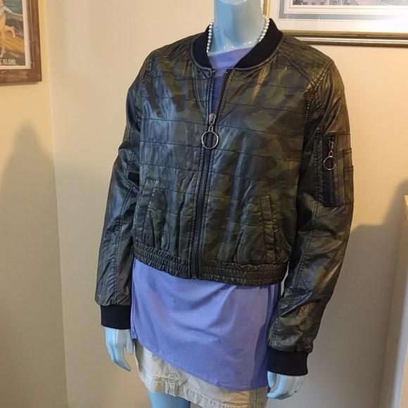 Jolt Jackets & Blazers - NWT Camo Leather Crop Jacket